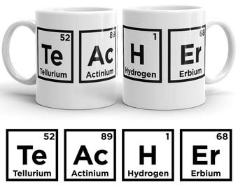 science teacher mug science teacher gift chemistry teacher gift chemistry teacher mug periodic table mug science teacher coffee mug