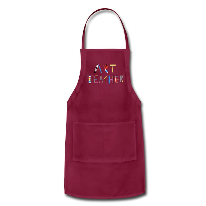 Art Teacher Apron with Pockets Apron for Art Teacher with image 2