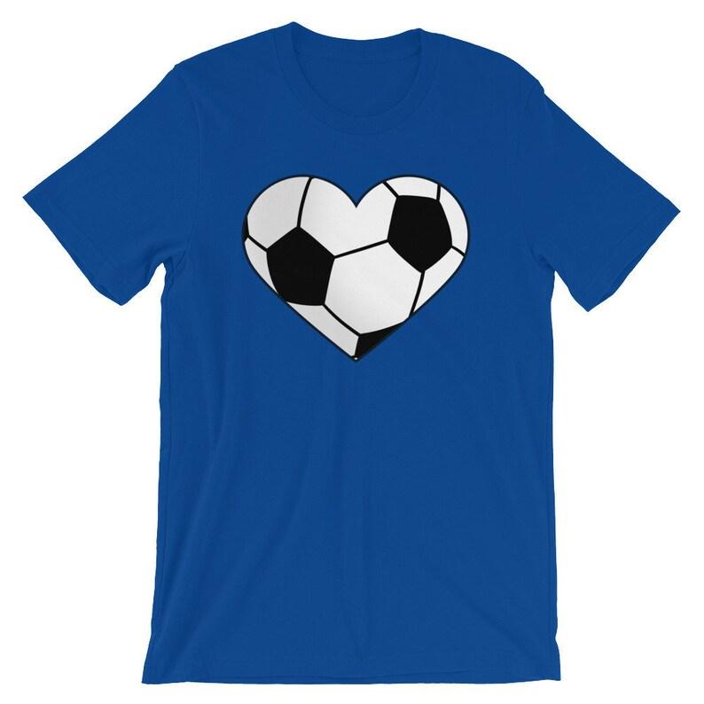 c9e0e14c2 I Heart Soccer Shirt Soccer Ball Heart Shirt Soccer Fan | Etsy