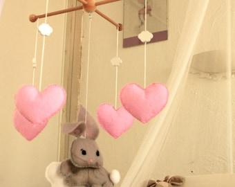 "Baby mobile, hanging baby ""Rabbit"" dream"""