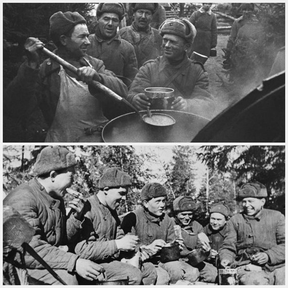 Image result for ww2 russian soldier with  m36 mess tin