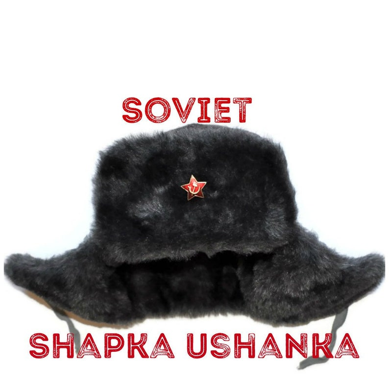 Soviet Military Shapka Ushanka Hat USSR Army Hammer Sickle  97f93640dd05
