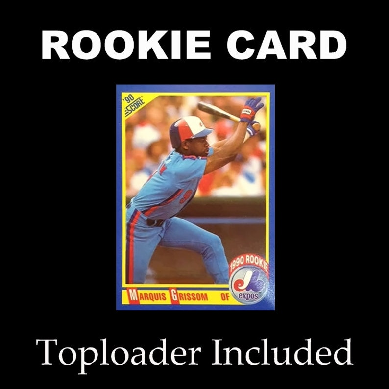 1990 Score 591 Marquis Grissom Rookie Card