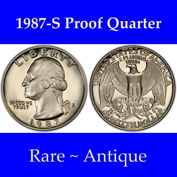 1987-S Proof Washington Quarter Coin PCGS PR69DCAM FREE SHIPPING