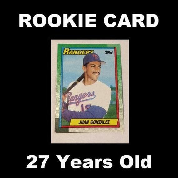1990 Topps 331 Juan Gonzalez Rookie Card