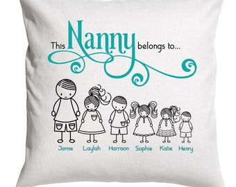 Nanny gift - This Nanny belongs to pillow cover - Nanny Gift - Grandma Cushion - Nanna Cushion -  Mom Pillow -
