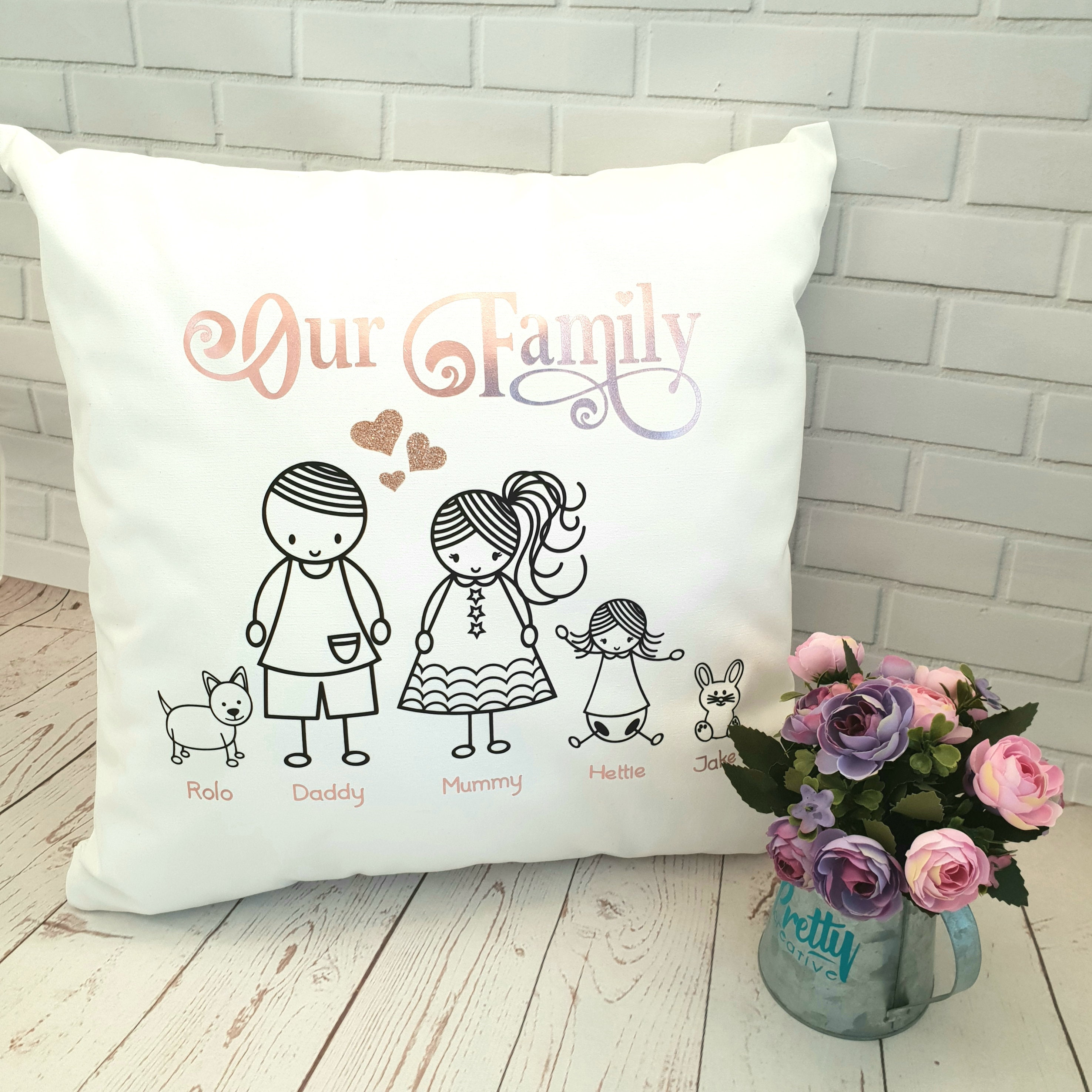 Personalised This mummy belongs to cushion cover//Penguin//Personalised Mothers Day Gift with child names//Personalized Mother gift