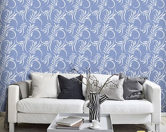 Self-adhesive wallpaper-Provençal-Baroque blue-yellow BUS