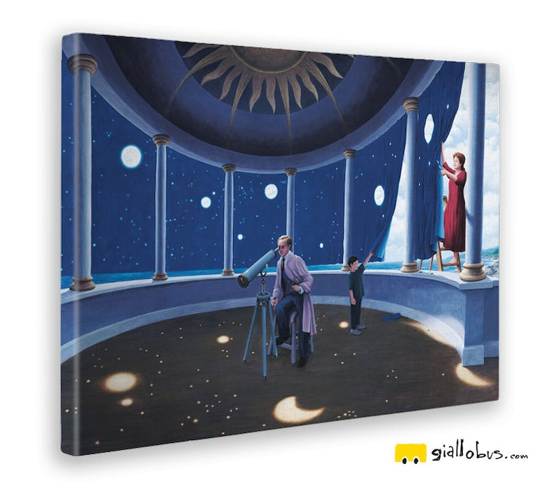 93df7bb35b Quadri Stampe su Tela Canvas Rob Gonsalves Astral | Etsy