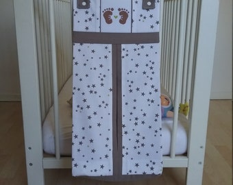 NEW... Storage bag for diapers with cross stitch pattern.