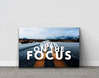 e842aac659 Focus, Typography Wall Art, Typography Canvas, Typography, Inspirational  Quote, Motivational Quote, Inspirational Canvas, Home Decor, Gift