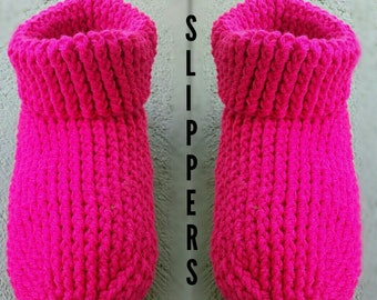 Cozy Cuffed Slippers Crochet Pattern