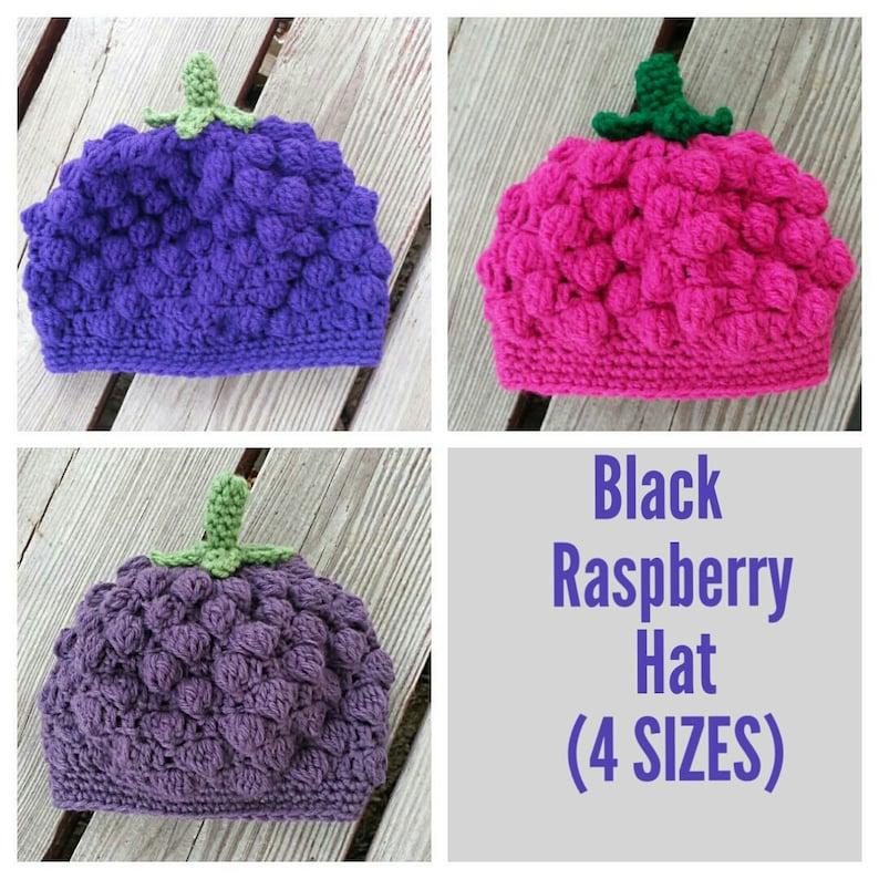 ba0da05bb Black Raspberry Baby or Toddler Hat Crochet pattern