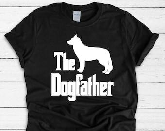 99d315d9 The Dogfather T-Shirt, Siberian Husky, silhouette, Funny dog gift, funny  dog shirt, Husky shirt, dog, Dog shirt, Dog dad, Husky gift