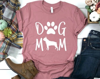1d46ec1e Dog mom shirt, Boston Terrier shirt, Boston Terrier dog mom, dog mom gift,  dog mom t-shirt, dog mom shirt for women, plus size available