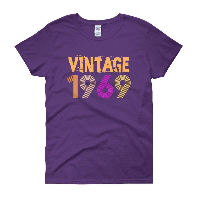 Vintage 1969 Retro Birthday T Shirt 49 Years Old 49th