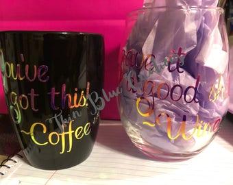 Coffee/Wine Set