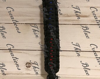 Thin Blue Line/Red Line Paracord Bracelet