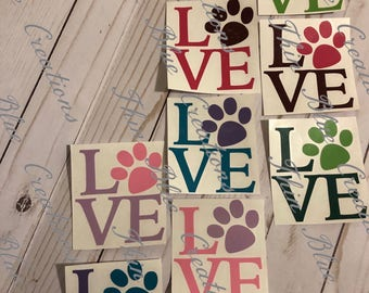 4 inch Pet Lover Decal