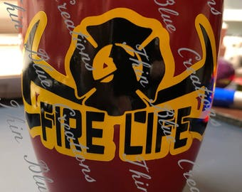 Fire Fighter Mug with Paracord Handle