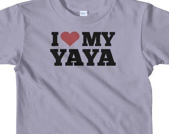 I Love My Yaya Short sleeve kids t-shirt