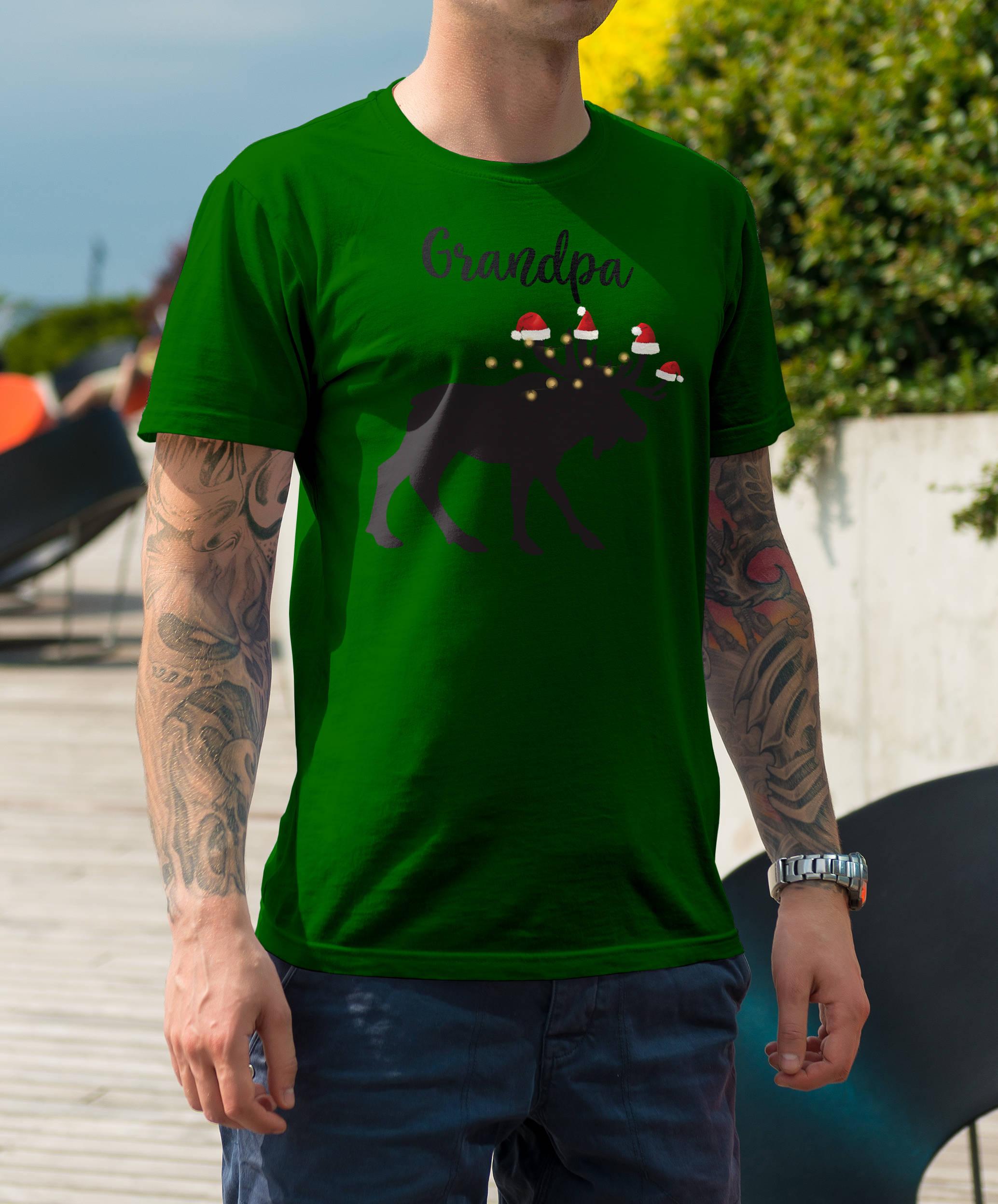 Papy orignal manches Noël pyjama manches orignal courtes T-Shirt unisexe 033094