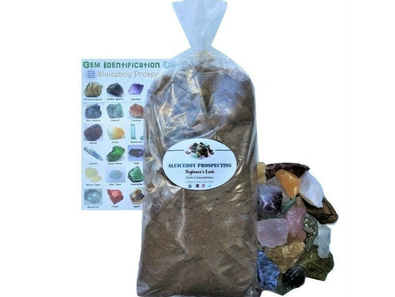 Gem Mining Rough Stone Mix Gemstone Paydirt - 5 lb Gem Bag - Mining Paydirt  Guaranteed Gemstones - GIFT WRAP AVAILABLE - Christmas Gift Idea