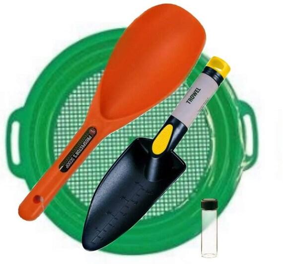 Metal Detecting Gold Panning Prospecting Kit Sieve Hand Shovel plastic shovel