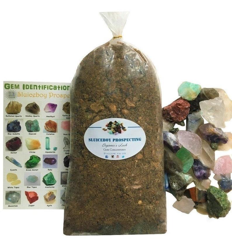 Rough Stone Mix GEM PAYDIRT 5 lb Gem Bag Mining Pay dirt Concentrate  Guaranteed Gemstone GIFT Idea