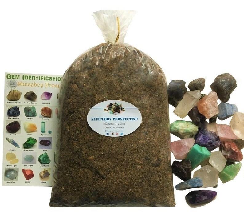 Rough Stone Mix GEM PAYDIRT 8 lb Bag Gemstone Mining Concentrates  Guaranteed Gems GIFT Idea