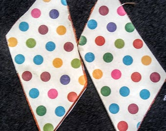 Colorful Polka Dot Reversible CUSTOM EARRINGS