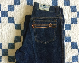 "Vintage 70s Levis orange tab kids denim jeans - 23""-24"""