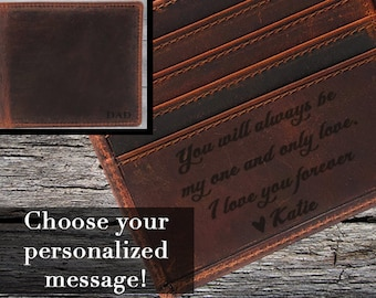 Personalized leather Wallet, Personalized wallet, personalized wallet for men, personalized mens wallet, leather wallet, Red/Brown