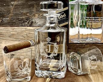 Gifts for Men - Anniversary Gift for Husband, Birthday Gift for Him, Anniversary Gift for Boyfriend, Decanter Whiskey Glasses Mens Gift