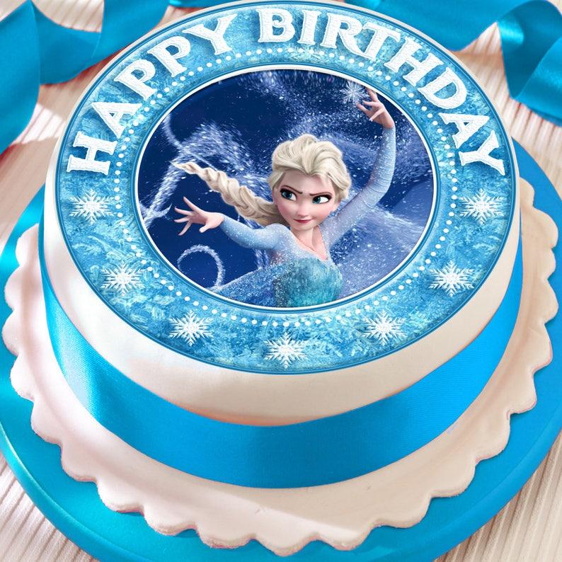 Disney Frozen Flashing Decoration— Cake Topper Table Decor