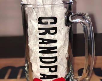 For him! personalized beer mug! gift for grandpa! gift for dad! bachelor party gift!