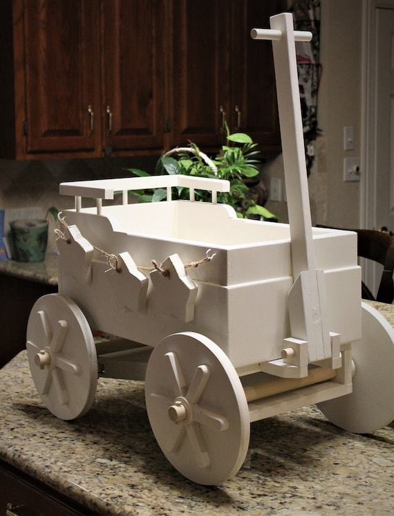 Wooden Wagon For Wedding For Babies 3 Yrs And Younger Ring Bearer Flower Girl Farm Wagon Excellent Photo Prop Shown In Tin White