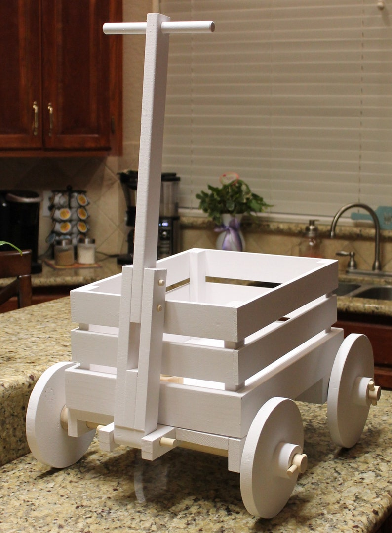 Wooden Wagon For Wedding For Babies 1 Yr And Younger Ring Bearer Flower Girl Farm Wagon Excellent Photo Prop Shown In Tin White