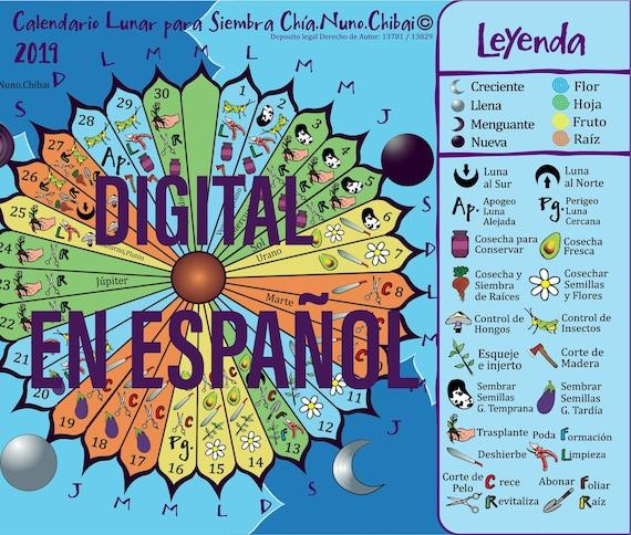 Calendario Lunar De Siembra.Agosto 2019 Digital En Espanol Calendario Lunar Para Siembra Chia Nuno Chibai Conocimiento Ancestral Para Mejores Cultivos