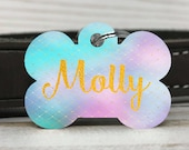 Pet ID Tag, Two-Sided Dog Tag, Personalized Pet tag, Bone ID Tag, Pet Gift, Personalized Gift, Identification Tag, unique Dog tag, pastel