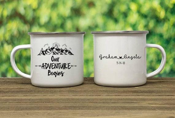I Love You to the Mountains Wedding Favor Camp Mugs Mountain Wedding Camping Mug Personalized Camp Mug Camping Mug Enamel Mug Wedding Gift