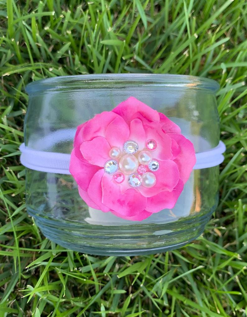 Rhinestone Headband ~ Pearl Headband ~ Newborn Photo Headband ~ Baby Girl Headband ~ Headband for Baby ~ Girls Headband ~ Flower Headband