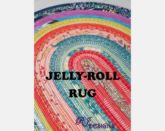 Jelly-Roll Rug Pattern (PDF)
