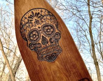 Engraving On A Custom Made Canoe Paddle