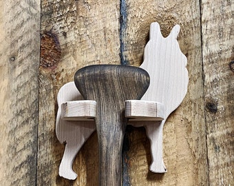 Paddle Display Holder - Howling Wolf