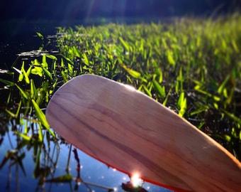 Wooden Beavertail Canoe Paddle - Handmade