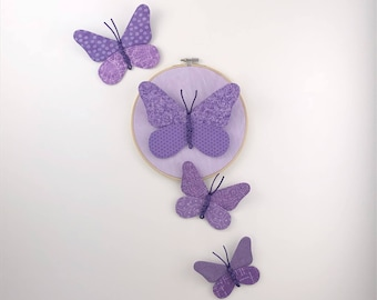 Butterfly Cluster Wall Hanging - Purple