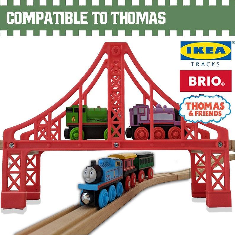 9cfa38412a0 Wooden Train Tracks 55 PCS-Fits Thomas Brio Ikea