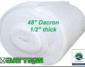 BayTrim Bonded Dacron Upholstery Grade Polyester Batting 48 Inch Wide.
