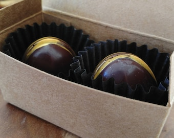 Favors -- Dark Chocolate Salted Caramel Truffles, Weddings, Parties, Events